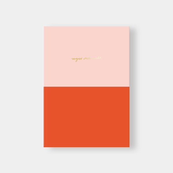 NAVUCKO Notebook DIN A5 Colorblock rose/red, Vergiss Dich nicht